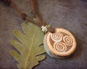 Triskele wood pendant