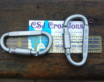 Add On Aircraft Aluminum Carabiner, Twist Lock Carabiner, Silver Carabiner, Not For Climbing, Can Add On to Any Item or Purchased Separately