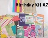 Birthday Card Making Kit # 2- Kid's Card Making Kit, Birthday Activities, Children's Activity Kit, Kid's Craft Project, DIY Card Making Kit