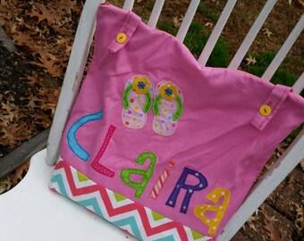 Medium Girl Personalized Kids Tote Bag, Zippered Tote Bag, Canvas Tote Bag, Lined Tote Bag, Tote Bag for Kids, Bookbag, Flower Girl Present