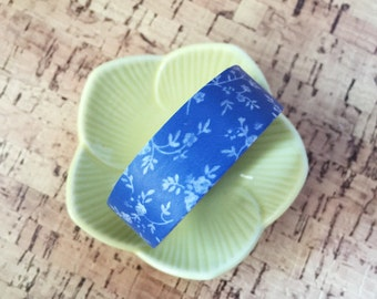Blue Floral Washi Tape