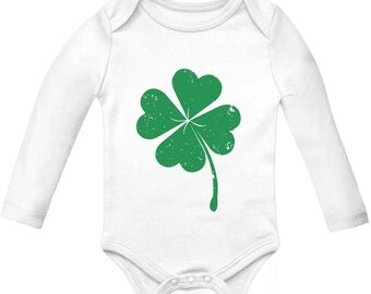 Baby Clover - St. Patrick's Day - Long Sleeve Onesie