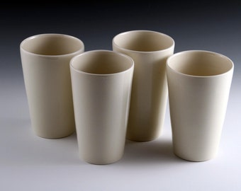 Cylindrical Porcelain Cups