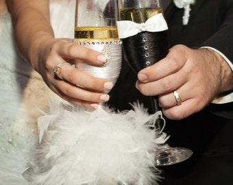 Bride & Groom Wedding Flutes