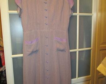 Beautiful large L oversize size 1940s  dress VLV  Rhythm Riot Lindy Hop 50s  vtg