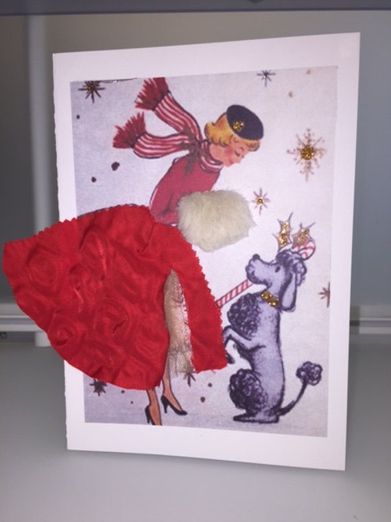 Handmade Retro Greeting Card