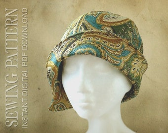 SEWING PATTERN - Clementine 1920's Twenties Cloche Hat for Child or Adult