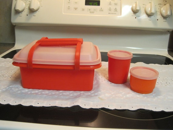 Tupperware 6 piece lunch box 1970 for Decor 6 piece lunchbox