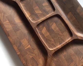 Vintage Mid Century Danish Modern Digsmed Denmark Teak  Cutting Board Tray