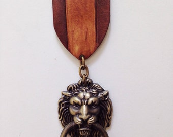 Large Steampunk Medal Lion Post Apocalyptic Medal War size 1.75""