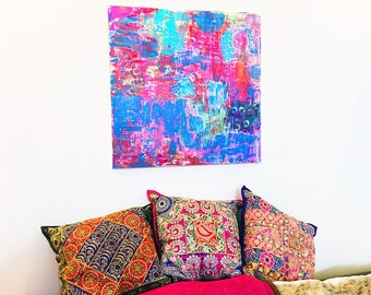 Colorful Abstract Art, Original abstract Painting, Original Art, Abstract Wall art, Wall art, Colorful Art, Happy Art, Color Me Happy Art