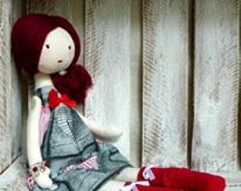 Cloth Rag Doll Handmade Sweet Doll Christmas gift for girl