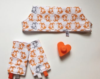 Fox Drool Pads & Bib SET - for Lillebaby Complete Tula Beco Gemini