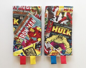Teething Pads Daddy Boy Friendly // New Dad Gift for babywearing // Marvel Comics