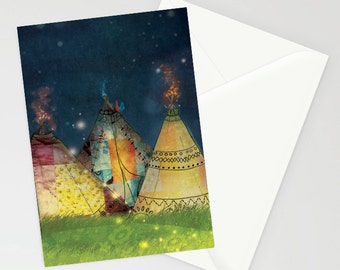 Patchwork Tipi's illustrated a6 card