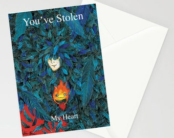 Studio Ghibli Howl's Moving Castle A6 valentines day card 'you've stolen my heart'
