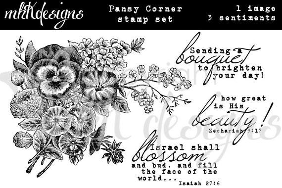 Pansy Corner Digital Stamp Set