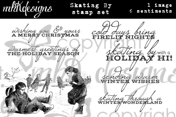 Skating By Digital Stamp Set