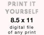 8.5 x 11 Digital File of Any Print