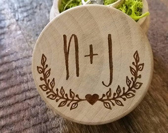 Personalized Wood Custom Ring Box Personalized Ring Box Wedding Box Ring Bearer Ring Pillow Alternative