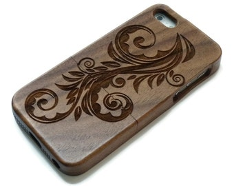 Iphone 7 case wood - wooden iphone 7 case walnut, cherry or bamboo wood - Flower