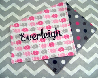 Personalized Burp Cloth, Monogrammed Burp Cloth, Reversible Burp Cloth, Baby Burp Cloth