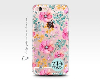 iPhone 7 Case, iPhone 7 Plus Case, iPhone 6 Case, Rubber Case, Monogram, Galaxy S7 Case, iPhone 8 Case, Galaxy S8 Case, iPhone X Case