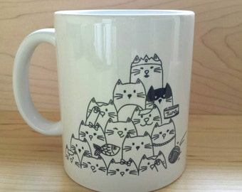 "Mug - ""CAT LOVERS"""
