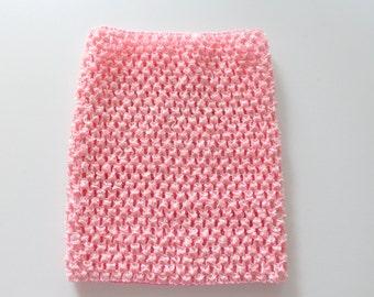 Crochet Tutu Top, Light Pink 8 inch tube top, wholesale tutu top, DIY tutu