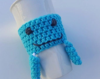 Cup Cozy, Jellyfish Cup Cozy, Jelly Cup Cozy, Fish Cup Cozy, Cozy, Coffee Sleeve, Jellyfish Coffee Sleeve, Happy Jellyfish Cozy, Happy Cozy