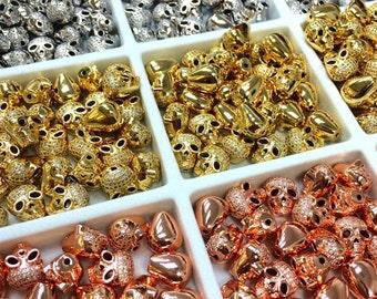 Skull Charm, Skull Charms, CZ Skull,Skull Bead, Skull Charm, CZ Skull Charm, Skull Beads, Skull Head, Skull Jewelry, Skull Bracelet, Skulls,
