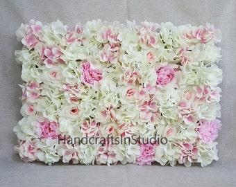 Wedding Flower Wall Backdrops Silk Hydrangea Peony Roses Flower Wall Background For Wedding Photography Silk Flower Panels 40*60cm CJHQ-Q005