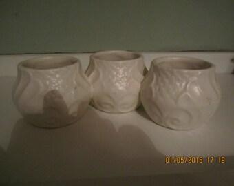 Matte White Glaze Little Pottery Vase Planter Desk Organizer McCoy Hull Hall Shawnee Vase