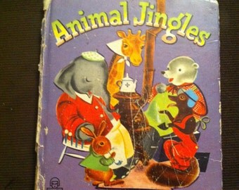Animal Jingles - Whitman Tell a Tale Book - Vintage - Children's Book - Animal Stories - Anthropomorphic - Cute Animals - 1950s ephemera