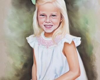 Pastel portrait, Custom children portraits