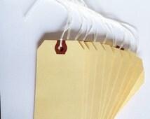 Sale 30% off 10 XL Manilla Tags Destash BOGO SALE Scrapbook Cardmaking Supplies Merchandise Price Craft Show Gift Packaging Manila Labels Cr