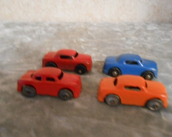 1950's Set of Four Metal Barclay Cars