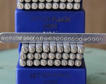 Hello June 2MM Modern Font Alphabet Letter Combination Stamp Set - Metal Stamp Set - Metal And Jewelry Design Tools - SGE-8UL
