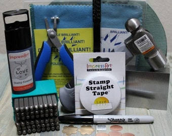 Metal Stamp Kit- Jewelry Making And Metal Stamping Tools-  Steel Stamp Kit- Metal Kit- SG-K1