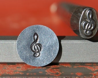 EXCLUSIVE Treble Clef Note Steel Stamp Perfect for Metal Stamping and Jewelry Design  SGK-27