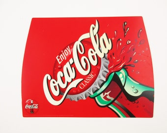 """A Plastic 'Coca-Cola' Sign  - Great Colors, Great Style - Screen Print 'Pop Style' 12"""" Sign"""