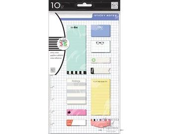 Sticky Post It Notes - To Do - Happy Planner Sticker Set - Accessories Scrapbooking Embellishment - MAMBI - Me & My Big Ideas - 290548