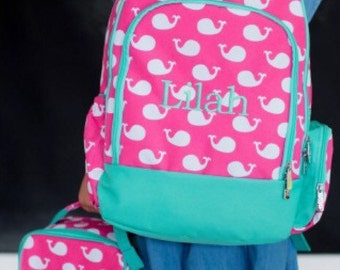 Personalized Backpack and Lunchbox - Monogrammed Backpack and Lunchbox