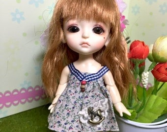 garden girl outfit  for lati yellow pukifee muichan 1/8 bjd dolls (handmade)