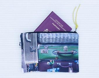 Suitcase pencil poch, zipper pouch, cosmetic bag