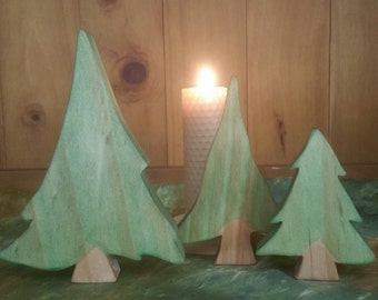 Set of 3 Evergreen trees