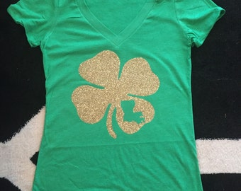 Custom State St.Patricks Day V-Neck