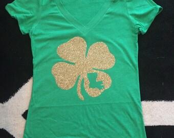 Custom State St.Patricks Day V-Neck