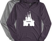 Home with Castle. Lightweight UNISEX Hoodie. Park Day. Workout Hoodie. Cover up. Lounge Wear.
