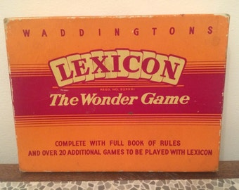 Lexicon card game by Waddingtons